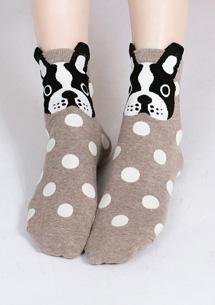 Q版動物造型短襪
