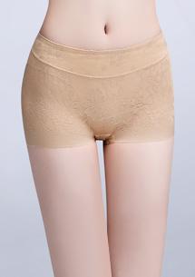 無痕蠶絲平口內褲