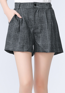 復古經典細格紋休閒短褲