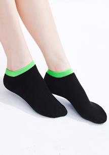 配色舒適棉柔短襪