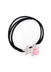 星星亮鑽珍珠髮圈