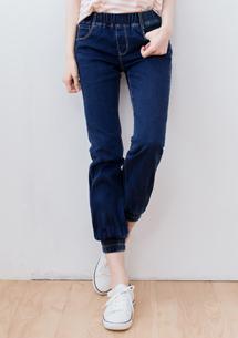 【限二天$329】舒適展現縮口牛仔褲