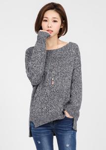 溫暖簡約混紡針織毛衣